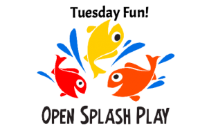 Open Splash Play  Every Tuesday! 9:30 - 10:30 AM