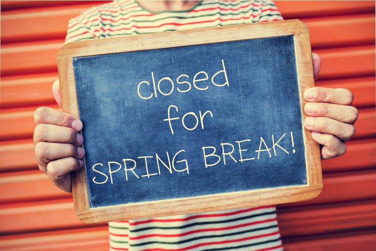 Closed for Spring Break Classes start back 3/23/19